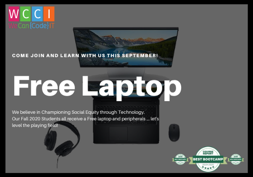 Free Laptops Coding Bootcamp Inclusion and Equity